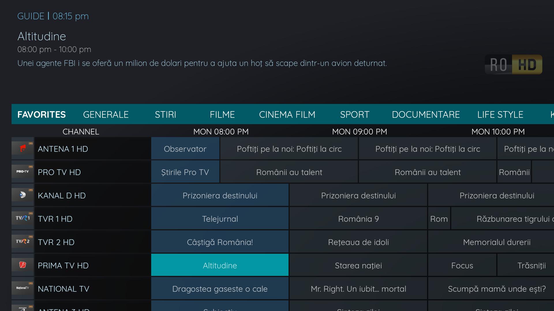 EPG - Program TV